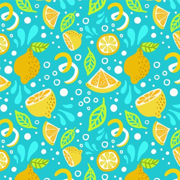Motif De Fruits Aux Agrumes Vecteur Premium