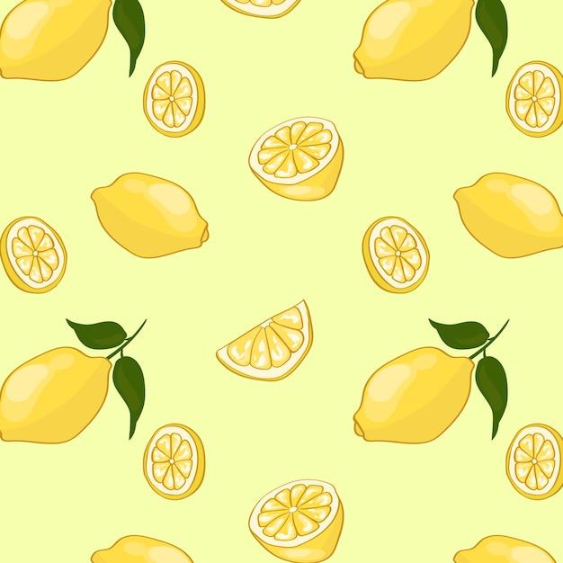 Motif De Fruits D'été Léger Vecteur gratuit