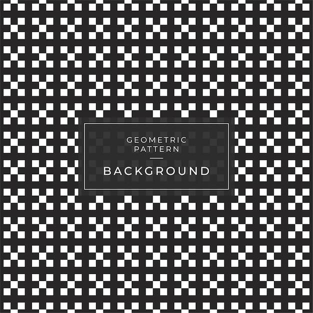 Motif géométrique abstrait avec des lignes lignes tuile un fond transparent. texture noir et blanc. Vecteur Premium