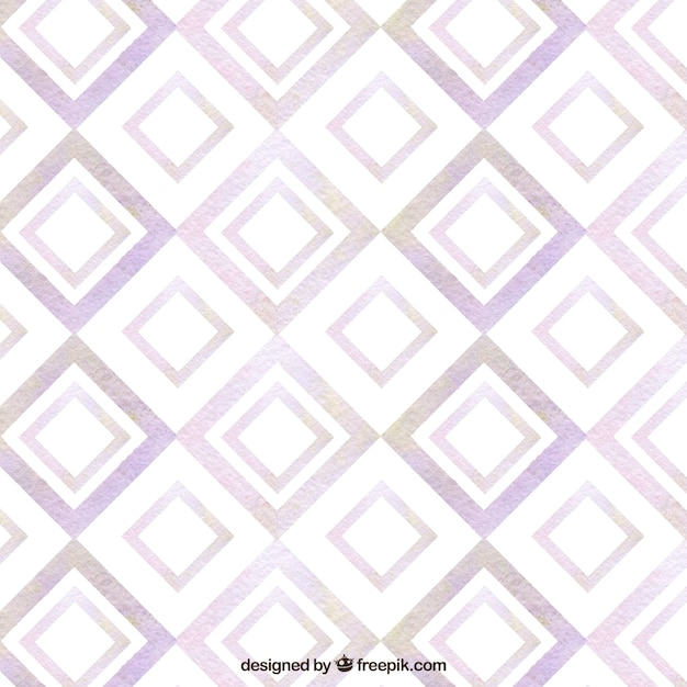 Motif géométrique aquarelle Vecteur gratuit