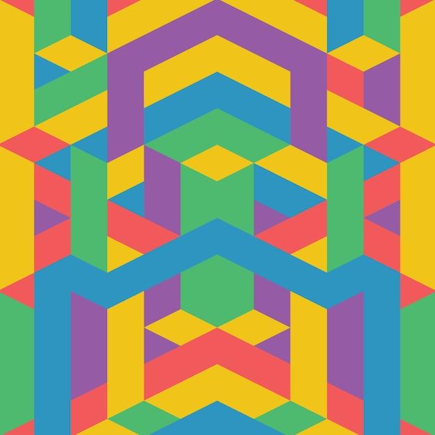 Motif géométrique coloré abstrait Vecteur Premium