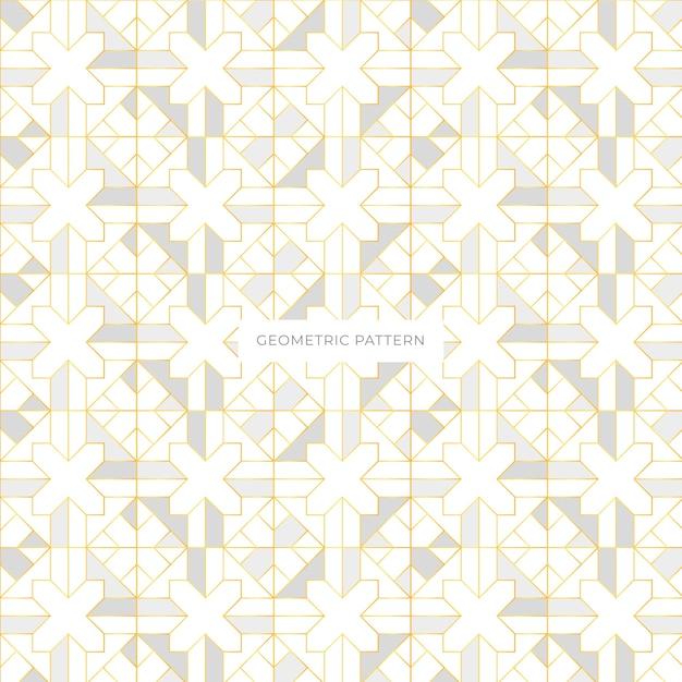 Motif géométrique élégant sans coutures Vecteur gratuit