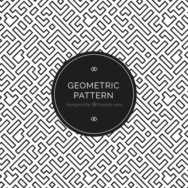 Motif Géométrique élégant Vecteur Premium