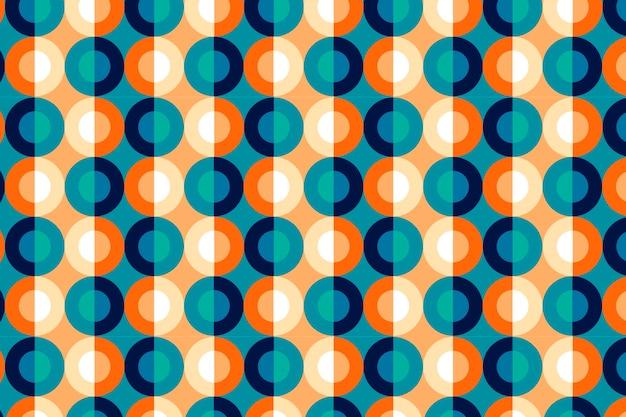 Motif Géométrique Groovy Vecteur gratuit