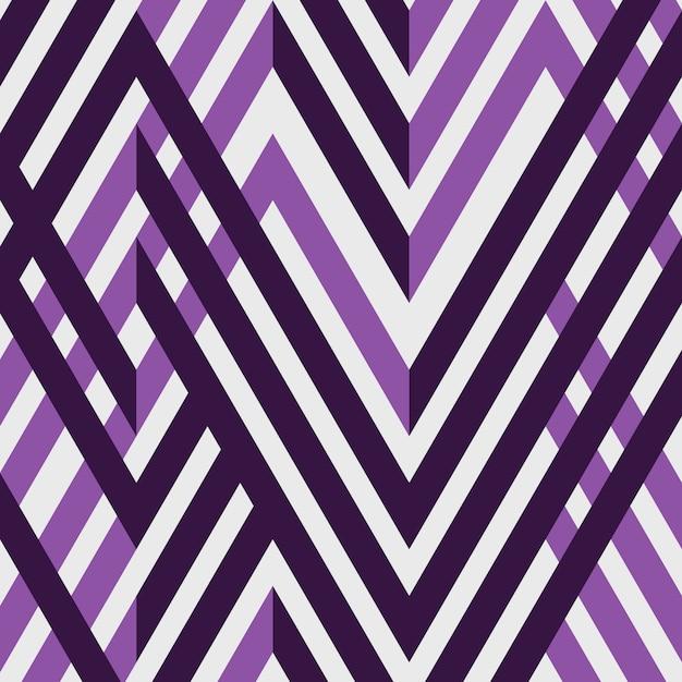 Motif géométrique de ligne abstraite simple bande violette. Vecteur Premium