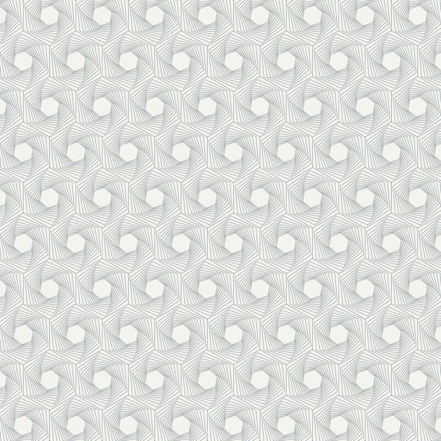 Motif Géométrique De La Ligne Pentagonale Abstraite Vecteur Premium