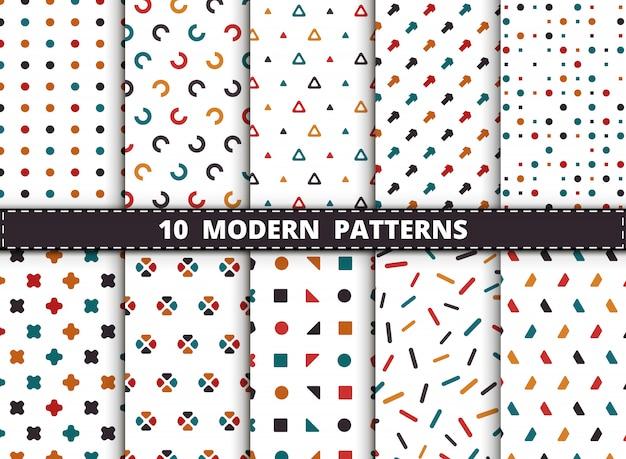 Motif géométrique moderne de style coloré abstrait. Vecteur Premium