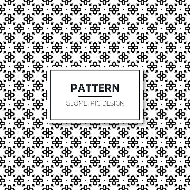 Motif Géométrique Noir Et Blanc Sans Couture Vecteur gratuit