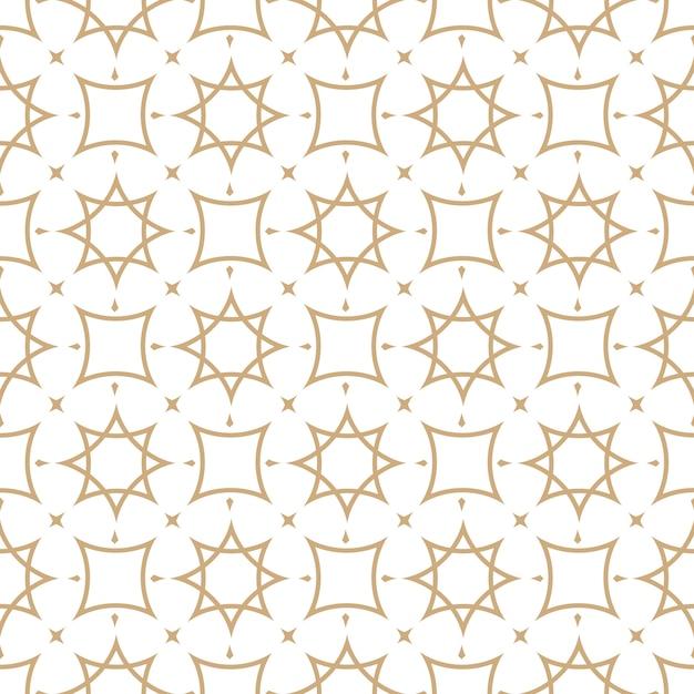Motif géométrique sans couture dans le style arabe Vecteur Premium