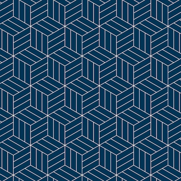 Motif géométrique sans couture d'inspiration japonaise Vecteur gratuit
