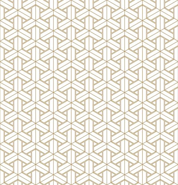 Motif géométrique sans soudure basé sur l'ornement japonais kumiko. Vecteur Premium