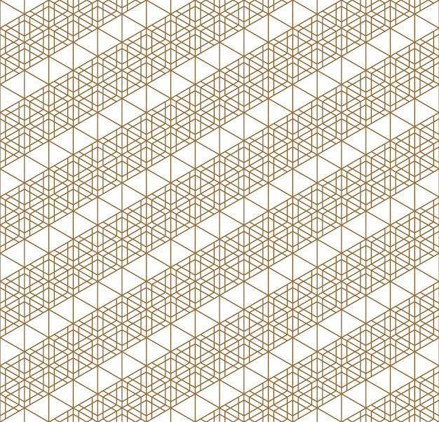 Motif géométrique sans soudure japonais. Vecteur Premium