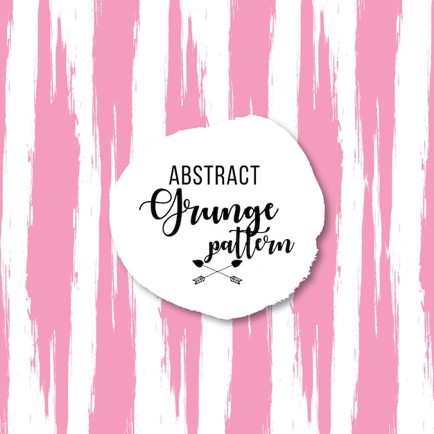 Motif grunge rose sur fond blanc Vecteur gratuit