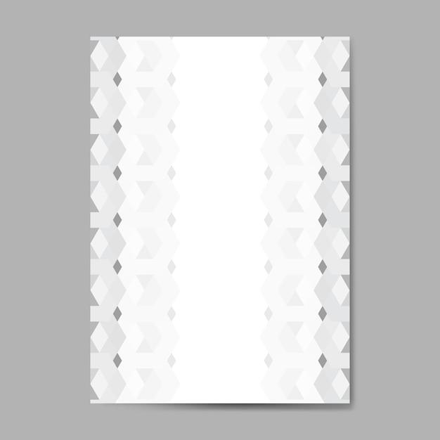 Motif hexagonal 3d gris Vecteur gratuit