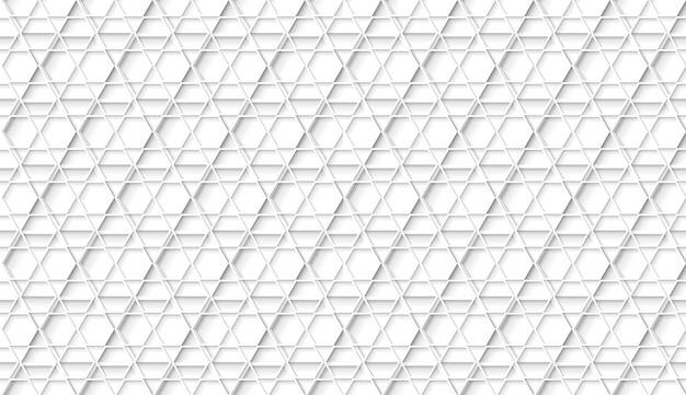 Motif Hexagonal Géométrique Blanc Sans Couture Avec Des Ombres De Style Appartements Vecteur Premium