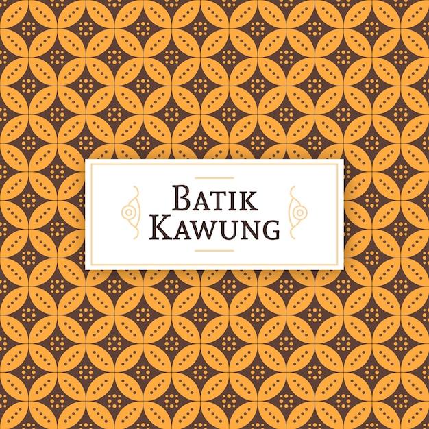 Motif javanais batik kawung Vecteur Premium