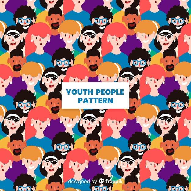 Motif jeunesse design plat Vecteur gratuit