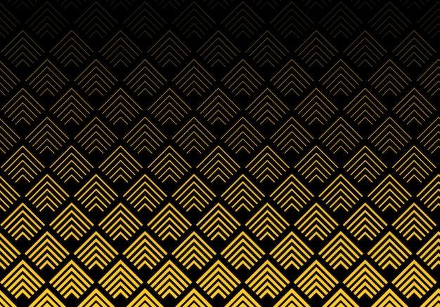 Motif de lignes abstraites chevron or Vecteur Premium