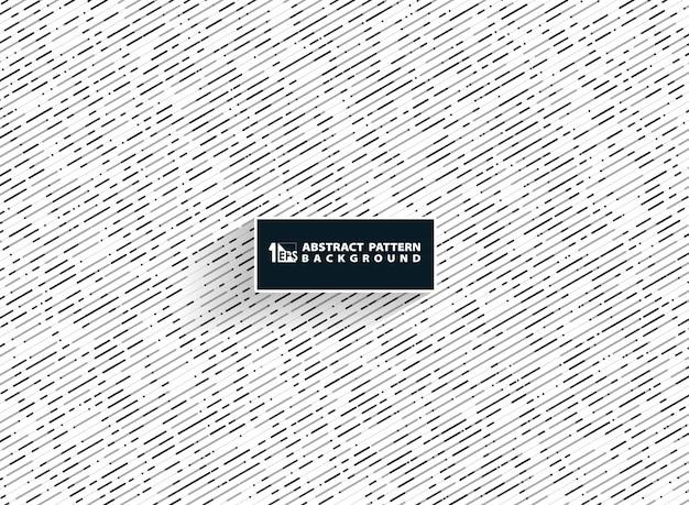 Motif de lignes abstraites noir gris blanc couleurs Vecteur Premium