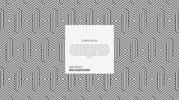 Motif De Lignes De Forme De Parallélogramme Hexagonal Géométrique Abstrait Vecteur Premium