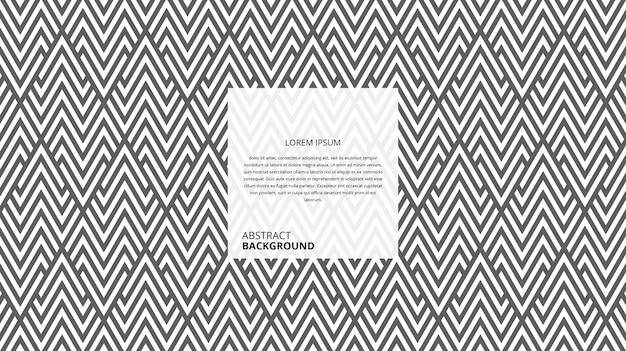 Motif De Lignes De Forme De Zigzag Triangle Décoratif Abstrait Vecteur Premium