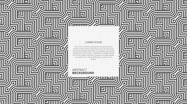Motif De Lignes Géométriques Abstraites De Forme Carrée Sinueuse Diagonale Vecteur Premium