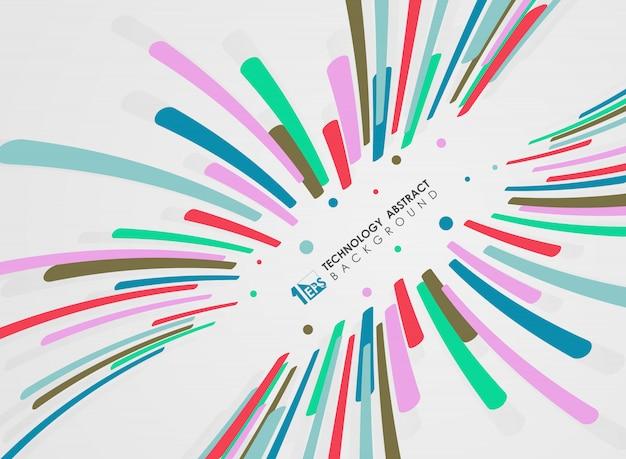 Motif de lignes rayures abstraites de conception de mouvement coloré Vecteur Premium