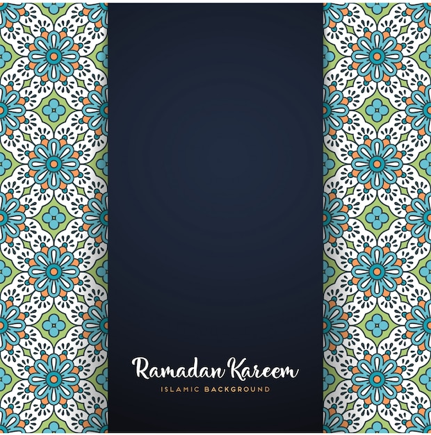 Motif De Mandala Ramadan Kareem Vecteur gratuit