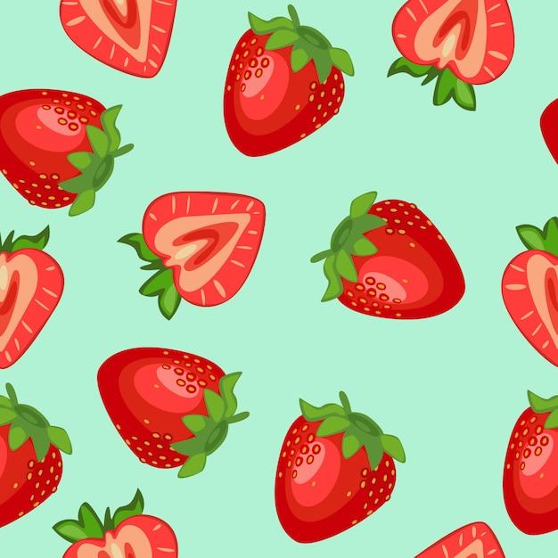 Motif mignon de fruits sans soudure Vecteur Premium
