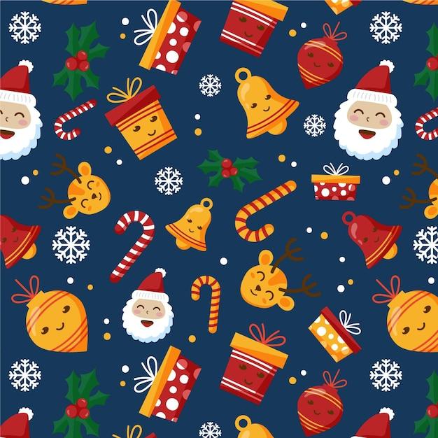 Motif De Noël Drôle Vecteur Premium