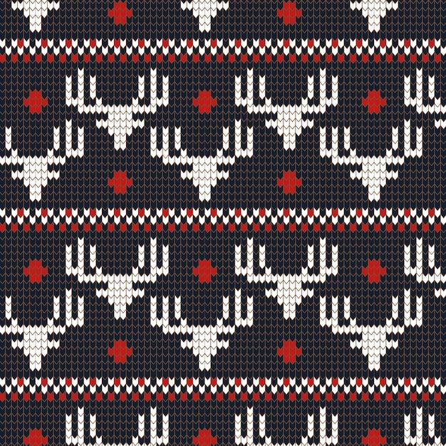 Motif de noël tricoté Vecteur gratuit