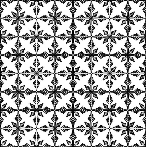 Motif noir et blanc Vecteur Premium