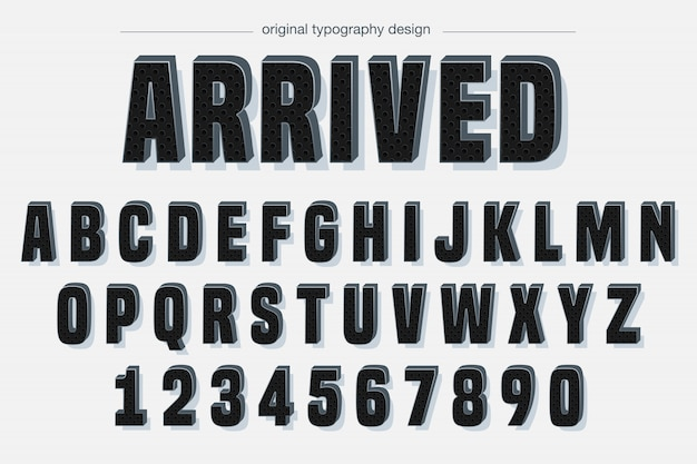 Motif noir gras design de typographie Vecteur Premium