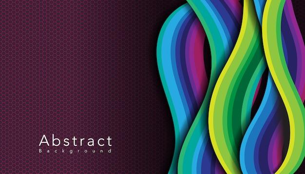 Motif Ondulé Multicolore Avec Nid D'abeille Vecteur gratuit