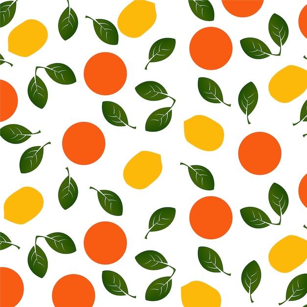 Motif oranges et citrons Vecteur Premium