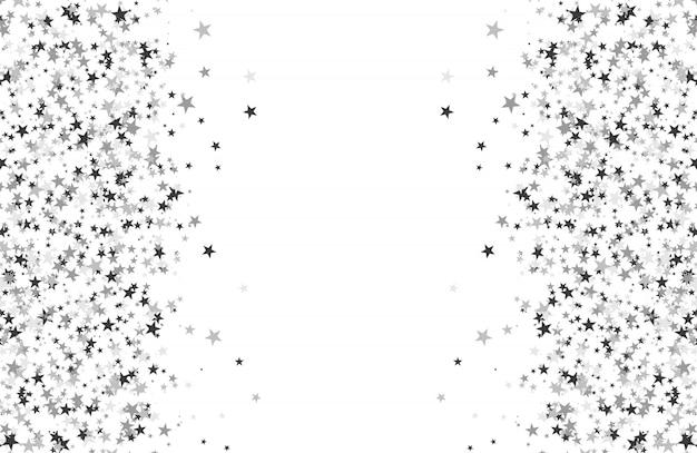 Motif de paillettes fait d'étoiles Vecteur Premium