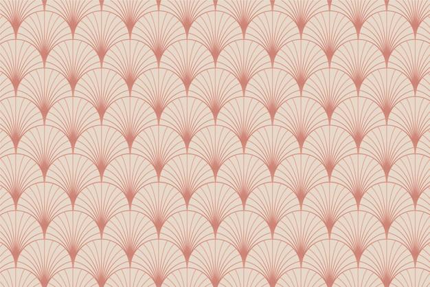 Motif Palmier Art Déco En Or Rose Pastel Vecteur Premium
