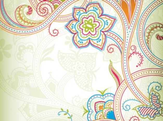 Motif de papillon avec des lignes colorées Vecteur gratuit