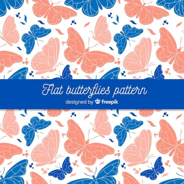 Motif papillon réaliste Vecteur gratuit