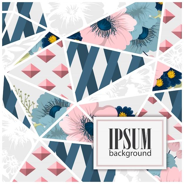 Motif patchwork floral sans couture avec éléments géométriques Vecteur gratuit