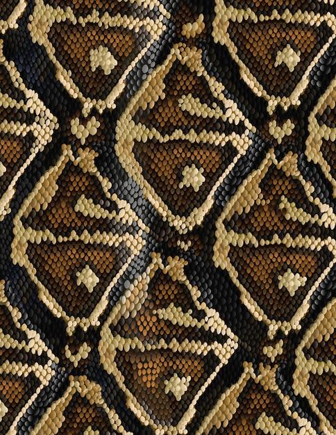 Motif de peau de serpent dans un style branché Vecteur Premium