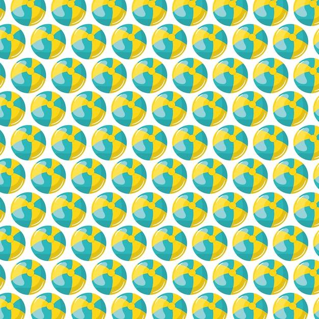 Motif En Plastique De Ballons De Plage Vecteur gratuit