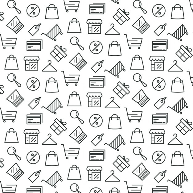 Motif à Propos De Shopping Vecteur gratuit