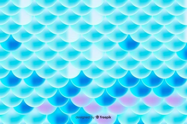 Motif de queue de sirène holographique dégradé Vecteur gratuit