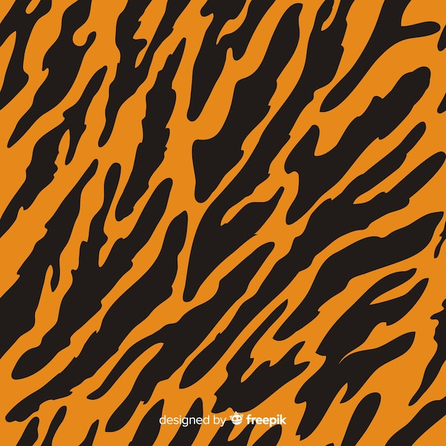 Motif de rayures de tigre Vecteur gratuit