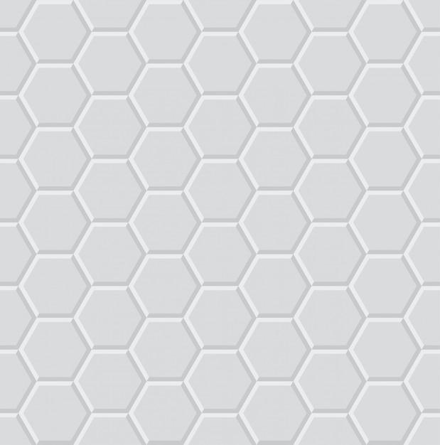 Motif sans soudure géométrique 3d lumière hexagone Vecteur Premium
