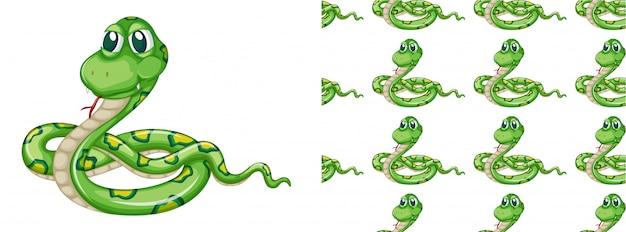 Motif de serpent sans soudure Vecteur gratuit
