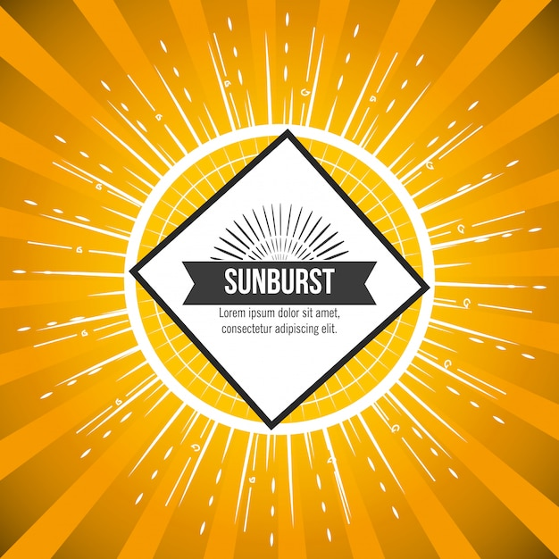 Motif Sunburst Vecteur gratuit