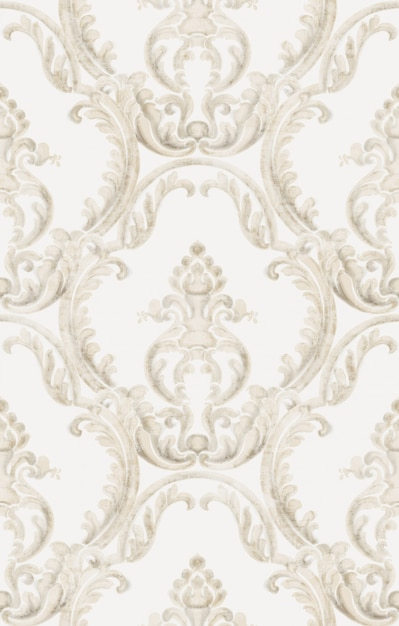 Motif De Texture Rococo Vecteur Premium