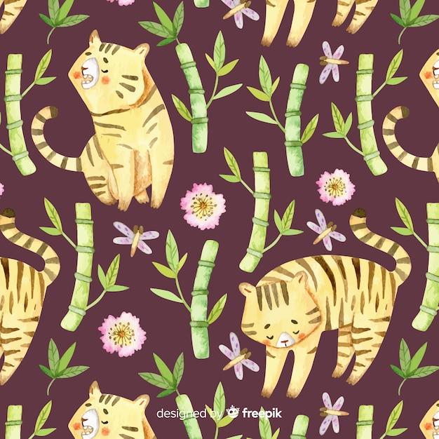 Motif tigre Vecteur gratuit